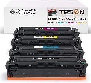 TESEN Compatible Toner Cartridge Replacement for HP 201X CF400X CF401X CF402X CF403X for HP Laserjet Pro MFP M277dw M252dw MFP M277n M277C6 M252n Printer (4-Pack,Black Cyan Magenta Yellow)