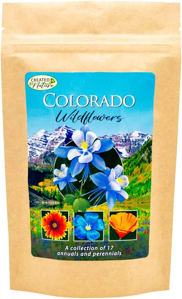 Colorado Wildflower Seed Mix - Over 53,000 Premium Seeds - by 'createdbynature'