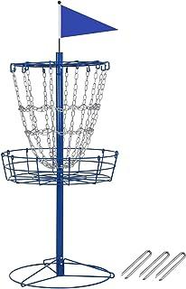 YAHEETECH Disc Golf Basket Portable Metal Disc Golf Target Flying Disc Golf Practice Basket Indoor & Outdoor