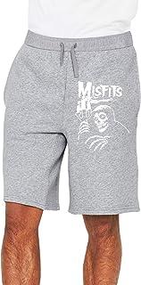 Misfits Skull ミスフィッツ ホラーパンク ハーフパンツ ショートパンツ 7分丈 ボトムス トレーニングウェア フィットネス スポーツ ランニング 吸汗速乾ズボン カジュアル ゆったり メンズ