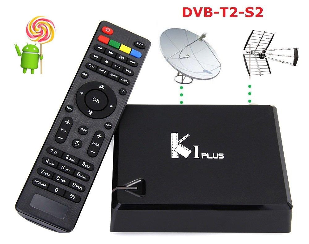 MiniPC TV K1 Plus Android 5.1 con receptor satélite s2 y Digital Terrestre T2 4 K Recorder: Amazon.es: Electrónica