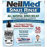 NeilMed Sinus Rinse - A Complete Sinus Nasal Rinse Kit, 50 count (Pack...
