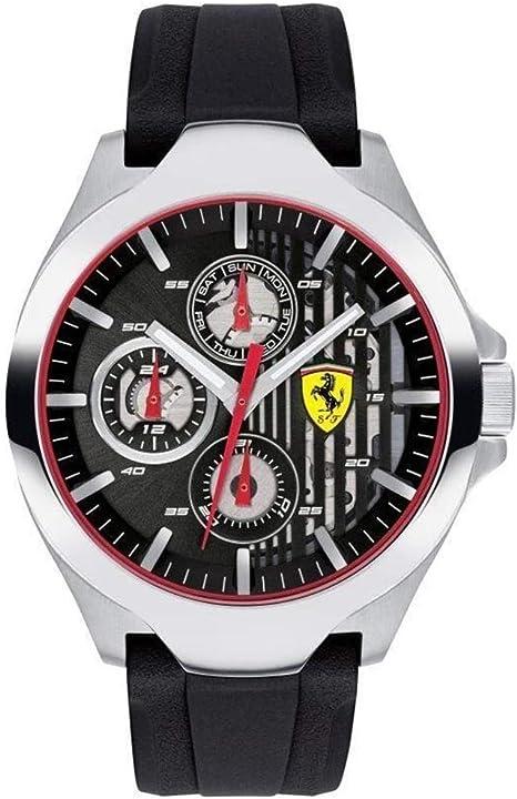 Orologio ferrari scuderia ferrari orologio multi-quadrante quarzo con cinturino in silicone 830510 0830510