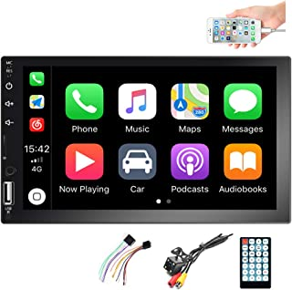 $69 » Hikity Double Din Car Stereo with Bluetooth, 7 Inch Touch Screen 2 Din Car FM Radio Player, in-Dash Car Audio Receiver Sys...