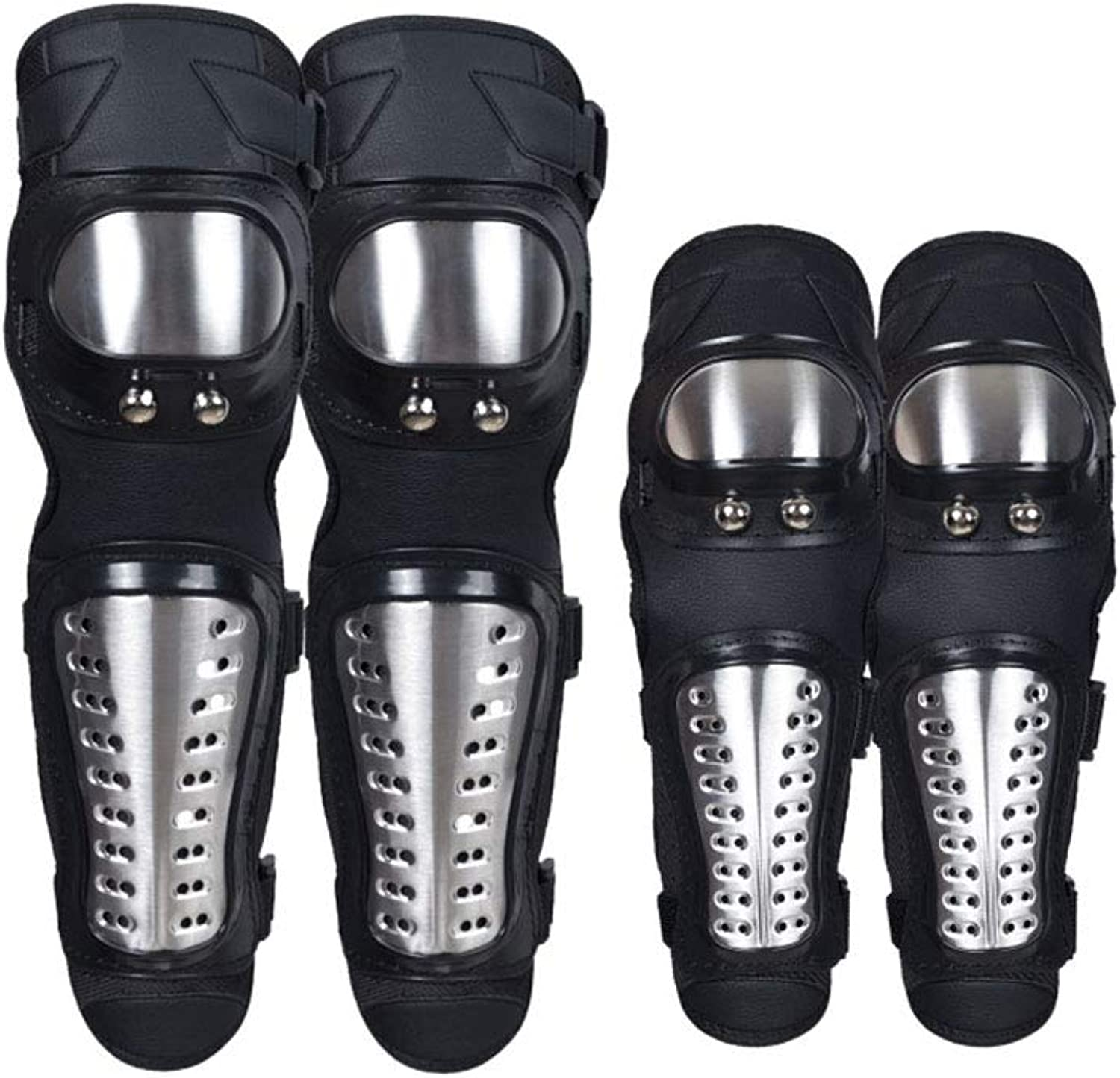 X-dtit Knee Pads Motorcycle - 4Pcs Adults Alloy Steel Motorcycle ATV Motocross Elbow Knee Shin Guards Predector Motocross Racing Adult Knee
