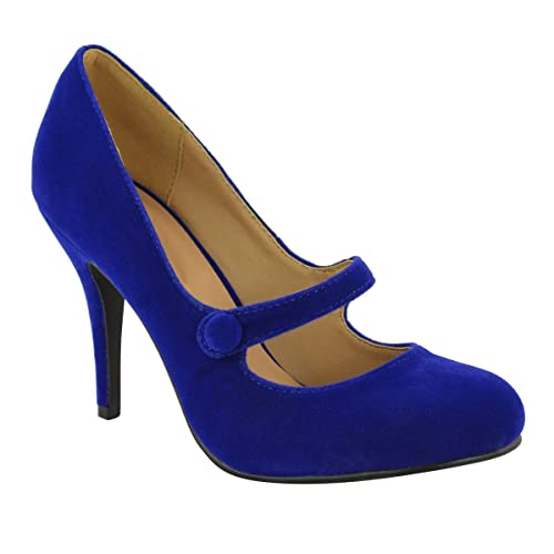6d6b4b0be6e11 Cobalt Blue Heels: Amazon.co.uk
