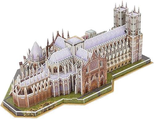 Con 100% de calidad y servicio de% 100. JIE. 3D 3D Puzzle DIY Juguetes Juguetes Juguetes creativos Westminster Abbey Westminster Asamblea Modelo de construcción  a precios asequibles
