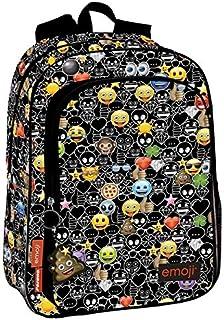 Emoji Just It - Mochila, Negro, 43 x 30 x 14 cm