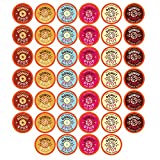 Donut Stop Coffee Flavored Coffee Pods, Compatible with 2.0 K-Cup Brewers, Donut Flavor Variety Pack, 40 Count