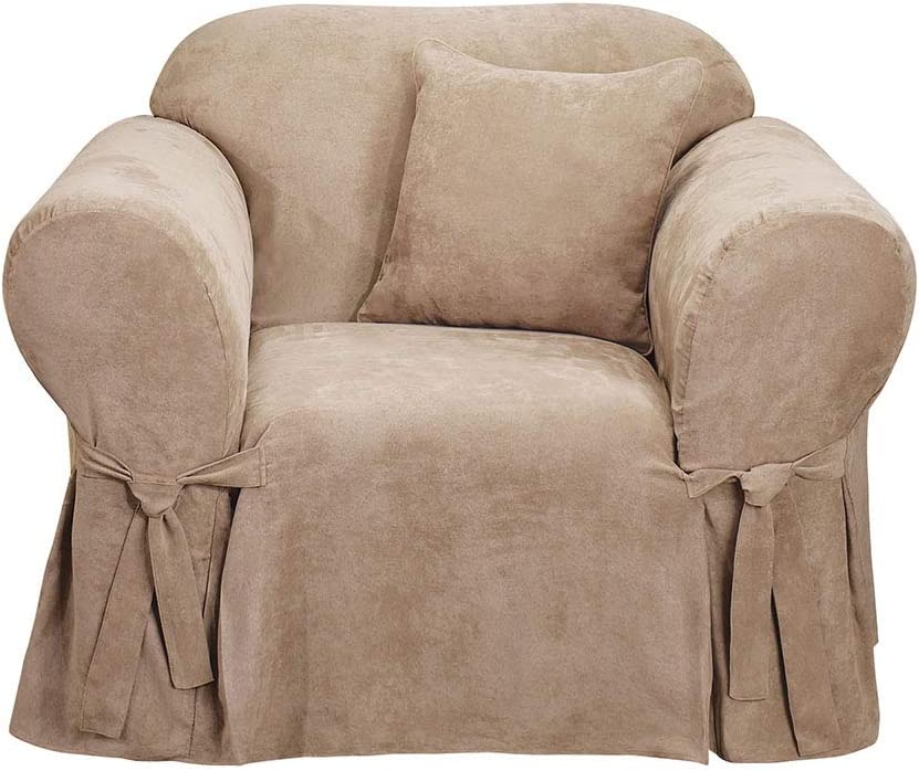 Surefit New products world's highest quality popular Soft Suede Chair Cover Fit Relaxed Luxury goods Polyester Machine