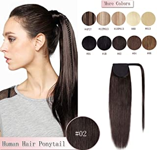 Best clip in ponytail extensions human hair Reviews