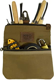 Hide & Drink, Waxed Canvas Fanny Waist Bag Hip Purse/Foraging & Treasure Hunting/Work & Outdoors Essentials :: Fatigue