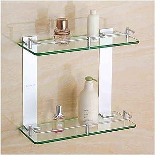 YF-SURINA Étagère de rangement en verre pour salle de bain Étagère en verre de salle de bain Étagères de rangement d'angle...