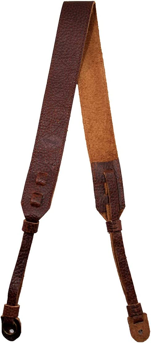 TETHER's Brown Leather Mail order cheap Camera NEW Strap SLR or for DSLR