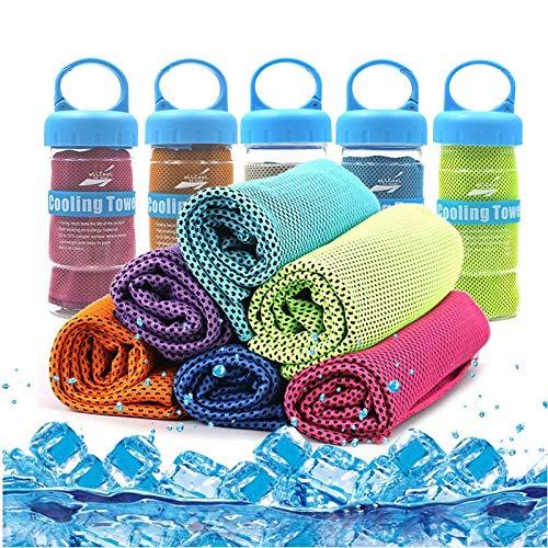 1 unid al aire libre fitness escalada yoga ejercicio rápido enfriamiento deportes toalla microfibra tela de secado rápido enfriamiento físico toallas de hielo