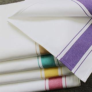 OUKEYI - Servilletas de algodón para Cena, Multicolor, Paquete de 5 (13.8 x 19.7 Pulgadas), servilletas de Tela Reutilizables Suaves y cómodas - Servilletas de Mesa hogar