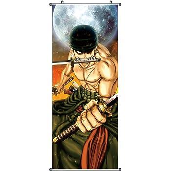 Lorenor Zorro 100x40cm Kakemono aus Stoff CoolChange Gro/ßes One Piece Rollbild Motiv