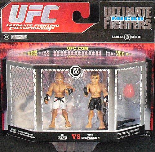 UFC Jakks Pacific Series 3 Ultimate Fighters Micro Figure 2Pack BJ Penn vs. J...