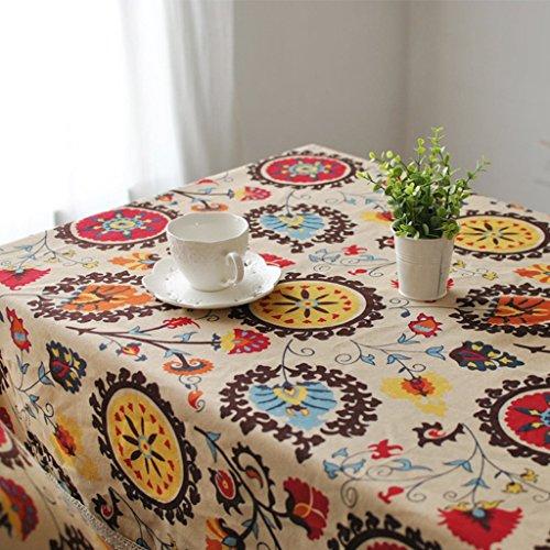 Nappe De Table, Coton Et Lin Carré Circulaire Style De Campagne Convient Pour Les Restaurants/Hôtels/Cafés/Librairies (taille : 60 * 60)