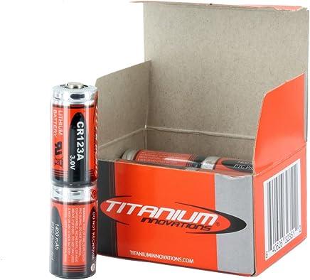 Titanium Innovations CR123A 3V Lithium Photo Battery 1400mah - Box of 12