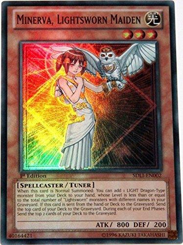 Yu-Gi-Oh! - Minerva, Lightsworn Maiden (SDLI-EN002) - First Edition - Super Rare