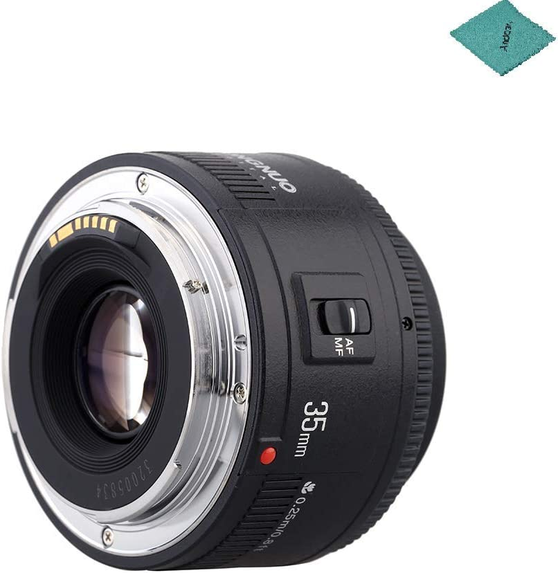 YONGNUO YN35mm F2 Lens 1:2 AF/MF Wide-Angle Fixed/Prime Auto Focus Lens Compatible with Canon EF Mount EOS Camera