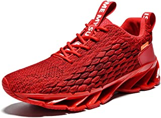 HK Summer Men's Shoes Blade Breathable Shock Absorption Running Shoes Wild Shoes Couple Shoes Size Code Wear-Resistant Anti-Slip