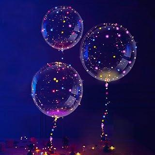 3 PIEZAS LED Globos, Transparente Fiesta Globos, Único Fiesta Globos, Perfecto para Varios Festivales, Fiesta, Aniversario Celebraciones, Boda, Fiesta Decoración