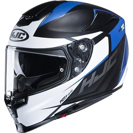 Hjc Helmets Herren Nc Motorrad Helm Schwarz Weiss Blau L Auto