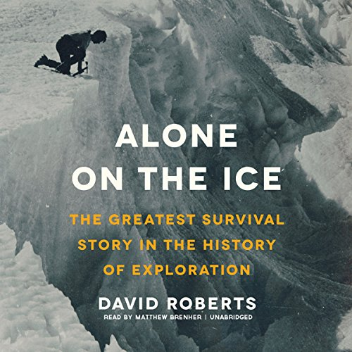 Alone on the Ice audiobook cover art