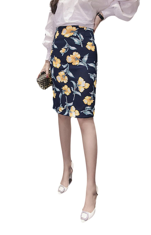 (チェリーレッド) CherryRed レディース ファッション タイトスカート 春夏 シンプル きれいめ ひざ丈 スカート M ブルー