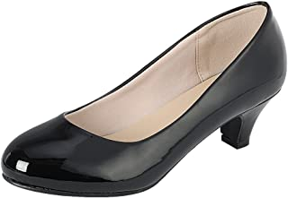 Cambridge Select Women's Classic Dress Formal Round Toe Low Mid Heel Pump