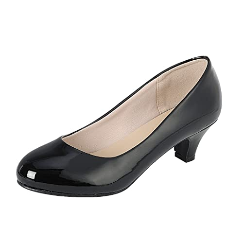 8d0df087cf36 Cambridge Select Women s Classic Dress Formal Round Toe Low Mid Heel Pump