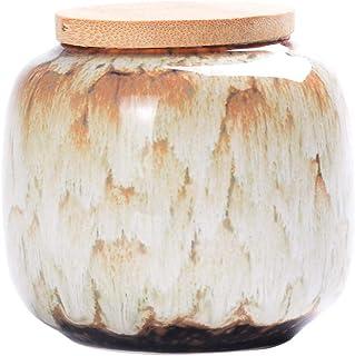 ZHTY Pot à thé en céramique Vintage bocaux de Rangement de Style Chinois boîtes à thé boîtes à thé Traditionnel Chariot à ...