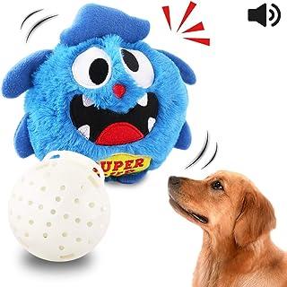 Petbobi Upgrade Dog Toys Interactive Monster Plush Giggle Ball Shake Squeak Crazy Bouncer..