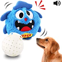 Petbobi Automatic Dog Toys Interactive Plush Giggle Ball Shake Squeak Crazy Bouncer Toys Exercise Electronic Toy for Puppy Motorized Entertainment for Pets