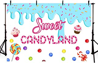 MEHOFOTO Sweet Candyland Themed Photo Studio Background Girl Birthday Princess Baby Shower Candy Party Decorations Banner Photography Backdrops for Cake Table 7x5ft