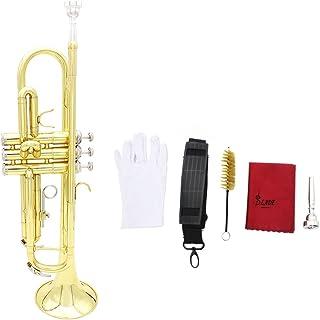 Andoer® Trompeta Bb B Flat Latón Exquisita con Boquilla Paño de Limpieza del Cepillo Guantes Correa