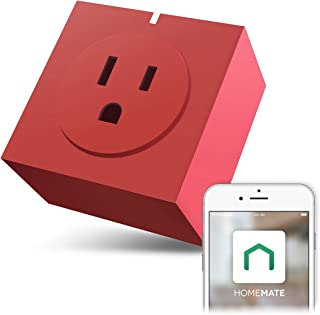 Zettaguard S31-Red Wi-Fi Smart Plug Outlet, Compatible with Alexa, Timer Switch Socket, Energy Meter, Wireless Remote Control your Electronics from Smartphone or Tablet, Red
