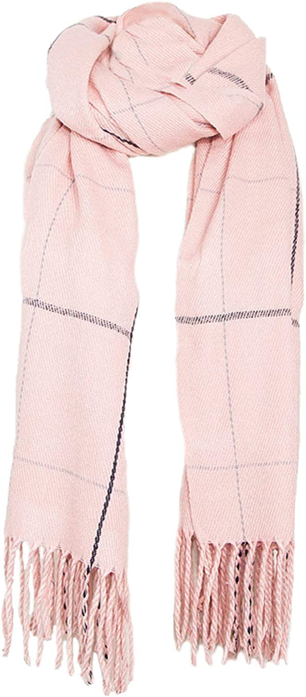 Women's Long Plaid Scarf Oversized Winter/Fall Warm Blanket Chunky Big Tartan Scarves Wrap Shawl