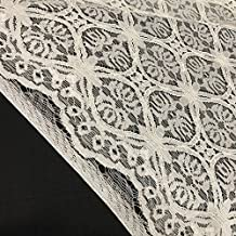 Orient Lace Craft Beautiful Off White Viscose Cord Embroidery SELF Design Fabric for Apparels and Home Furnishing.