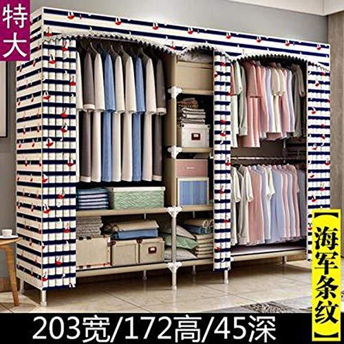 Treslin Piccolo Cabina Guardaroba,Canvas Portable Large Wardrobe freestanding Clothes Storage Supplies,Ideale per camere, alloggi in affitto