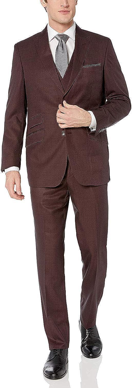 Max 42% OFF Adam Baker Men's Modern Fit Pea Trousers Department store 3-Piece Jacket Vets