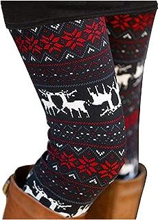 Sipaya Women's Brushed Christmas Ankle Length Seasonal Printed Leggings S-3XL