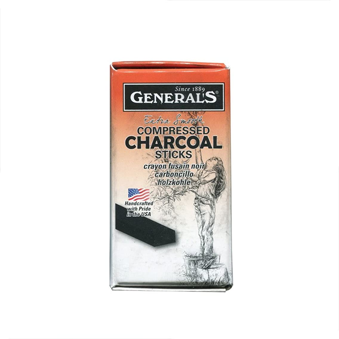 General Compressed Charcoal Stick 4B 6/Box