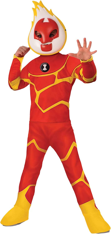 Boys Deluxe Ben 10 Heatblast Costume size Medium 8-10