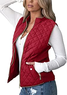 Women's Vest Padded Stand Collar Lightweight Outerwear...