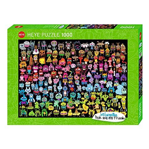HEYE 29786 - Doodle Rainbow Standard, Jon Burgerman, 1000 Teile Puzzle