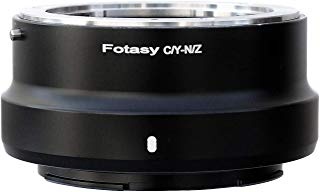 Fotasy Contax CY Lens to Nikon Z Adapter, Adapter for Nikon Z6 Z7 Contax Yashica C/Y Lens, Compatible with Nikon Z6 Z7 Full Frame Mirrorless Camera, Copper