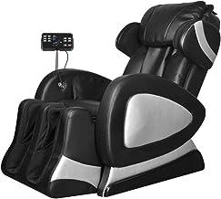 vidaXL Massagestoel Elektrisch met Super Screen Kunstleer Zwart Relax Stoel